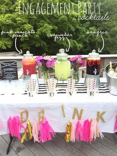 throwing  summer engagement party diy party ideas