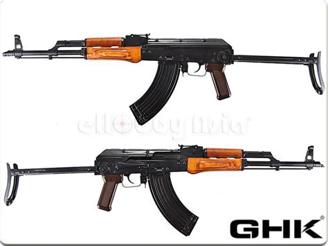 GHK AKMS Gas Blowback Rifle | Popular Airsoft