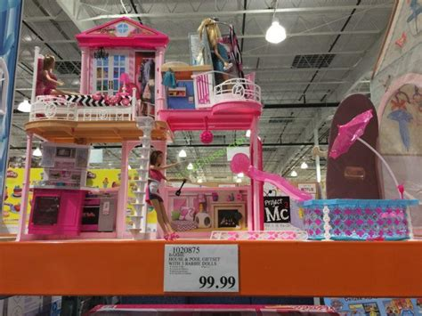 barbie house pool giftset   barbie dolls costcochaser