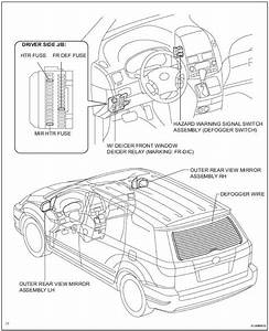 Toyota Sienna Service Manual  Window Defogger System