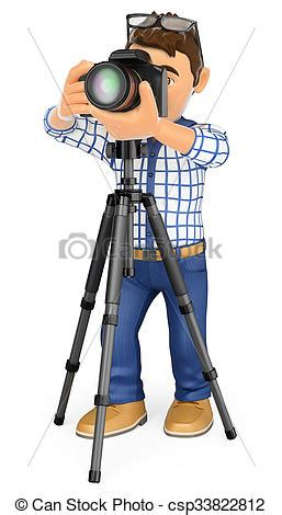 13237 photographer taking a picture clipart 3d photographer with and tripod taking a picture