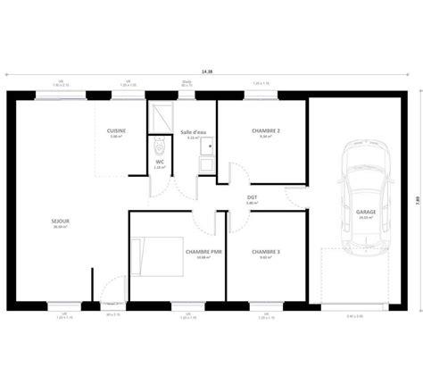 plans maisons plain pied 3 chambres plan maison plain pied 1 chambre simple chambres maison