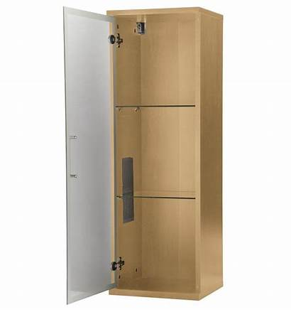 Wall Display Mounted Cabinet Beech Living Furniture