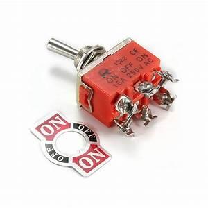 Interrupteur à Levier : interrupteur levier on off on 250v dpdt euro makers ~ Dallasstarsshop.com Idées de Décoration