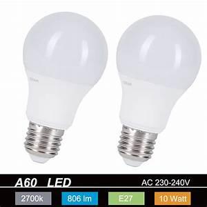 E27 Led Leuchtmittel : led leuchtmittel e27 a60 10w 806lm 2700k wohnlicht ~ Watch28wear.com Haus und Dekorationen