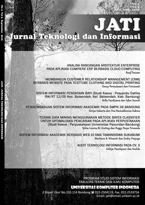 Archives   Jurnal Teknologi dan Informasi (JATI)