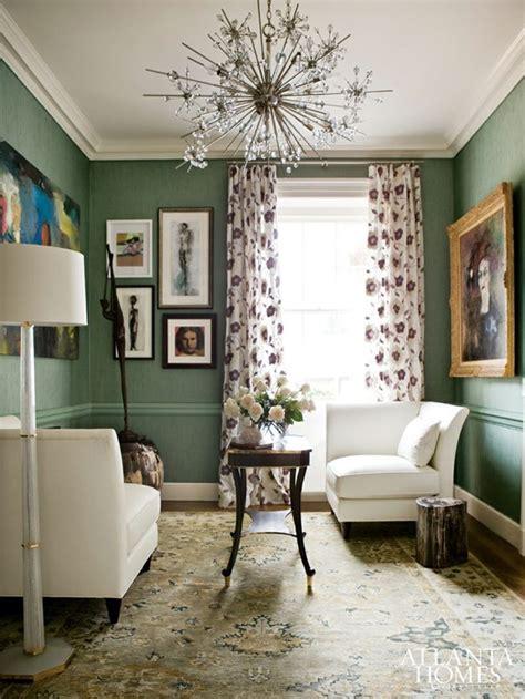 design planning dark green walls emily  clark