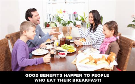 Good Benefits Happen To People Who Eat Their Breakfast