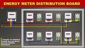 Three Phase Energy Meter Connection Wiring Diagram- Meter Board