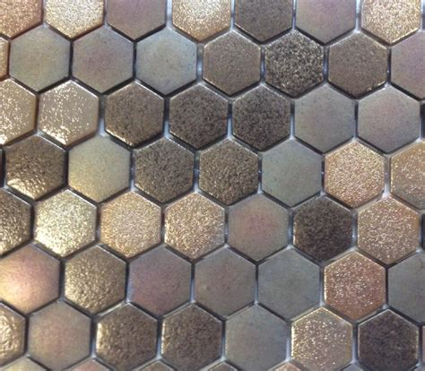 mosa 239 que p 226 te de verre hexagone brun cuivre plaque achat de mosa 239 que salle de bain hexagonale