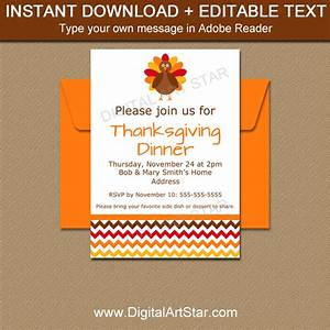 Instant download invitations thanksgiving template digital art star for Instant download invitations