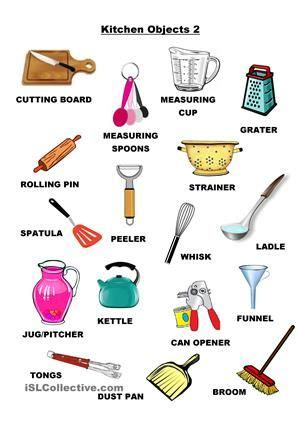 kitchen objects  ingles english lessons english