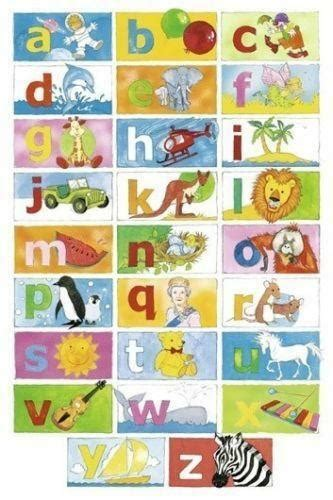 alphabet chart kids teens  home ebay
