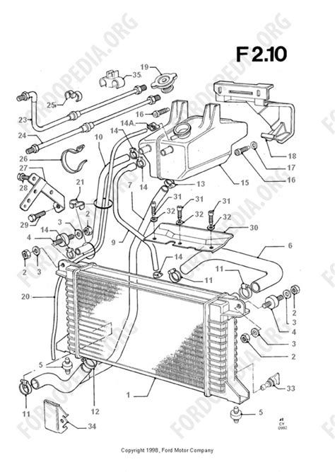 ford transit mkiii 1985 1991 parts list f2 10 radiator and hoses fordopedia org