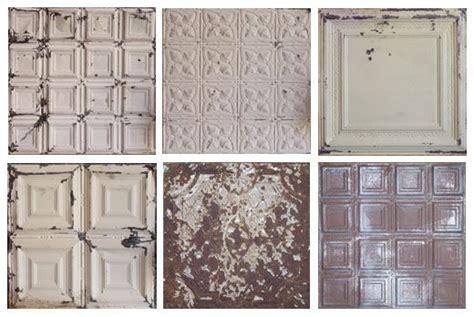 distressed painted tin ceiling tiles ceiling