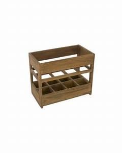 Casier à Bouteilles En Bois : casiers 8 bouteilles bois teinte vieux bois de kercoet ~ Teatrodelosmanantiales.com Idées de Décoration