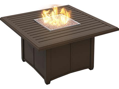 (1) round fire pit riser. Tropitone Banchetto Aluminum Fire Pit Table | 401158FP