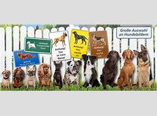 Warnschild Hund oder HundeVerbotsschilder online gestalten