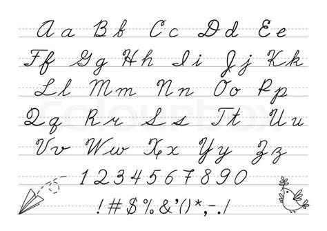hand drawn uppercase calligraphic stock vector