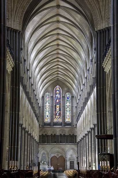 Salisbury Cathedral Nave Cattedrale Looking West Commons