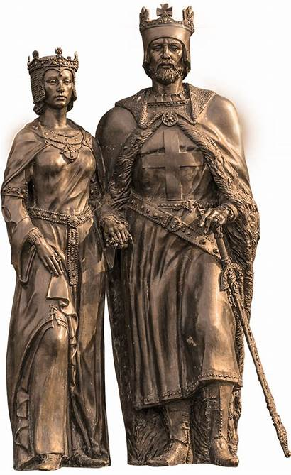 King Arthur Sculptures Medieval Queen Guinevere Castle