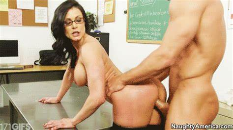 Titted Short Haired Mmf Pounding In The Class