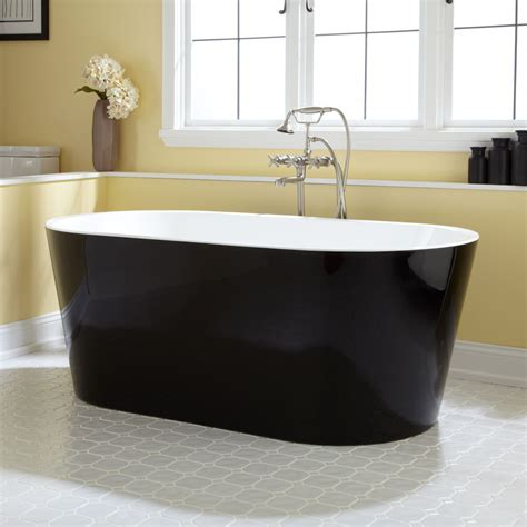 Eden Black Acrylic Freestanding Tub   Bathtubs   Bathroom