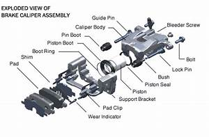 Exploded View Of Brake Caliper  From Justanswer Com