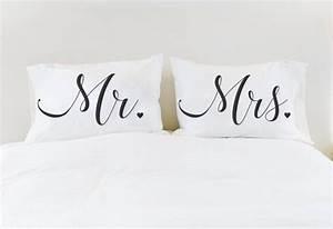 Mr Mme Couples De Taies Doreiller Oreiller Cas Mr Mme Etsy