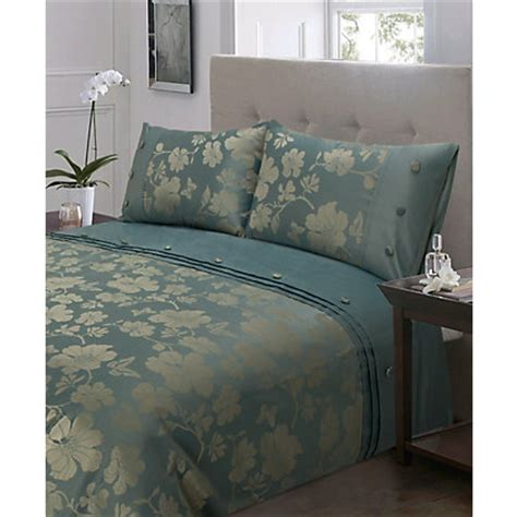 Home Of Style Darcy Duvet Cover Set  Duck Egg Double