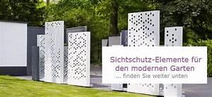 Moderner Garten Sichtschutz : garten im quadrat moderner sichtschutz und spaliere ~ Michelbontemps.com Haus und Dekorationen