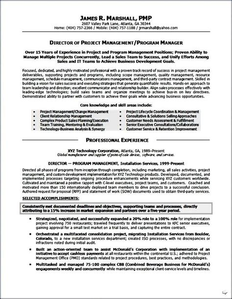executive resumes format free sles exles