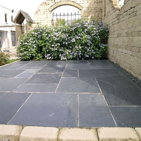 slate for backyard gray patio stone google search gardens patios pinterest paving slabs slate and patios