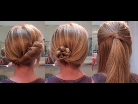 easy hairstyles   date work hairstyles  long