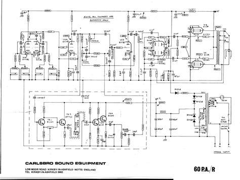 carlsbro  par amp schematic