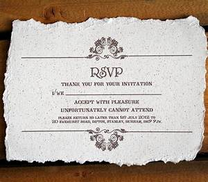 vintage style wedding invitation by solographic art With wedding invitation no rsvp card