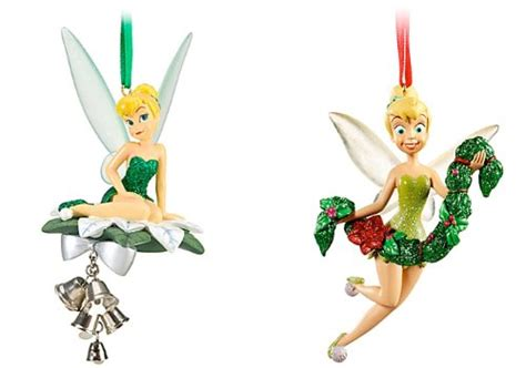 disney tinker bell set of 2 christmas tree ornaments deck