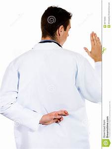 Backshot Of Dishonest Doctor Swearing Hippocratic Oath In ...