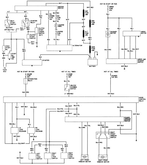 1991 toyota wiring diagram electrical website
