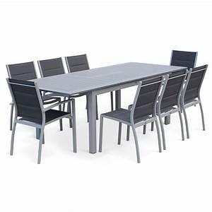 Table De Jardin Solde : mesa de jardin conjunto para exterior gris antracita 8 plazas ~ Teatrodelosmanantiales.com Idées de Décoration