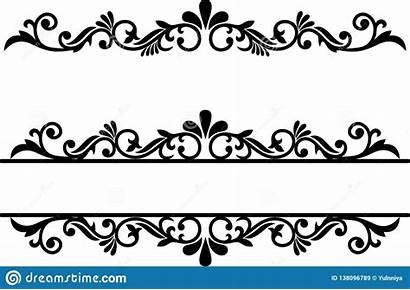Fancy Border Underline Flourish Line Dividers Ornamental