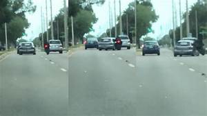 Caught on Tape: Florida driver slams into motorcyclist ...