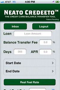 Neato credeeto helps iphone users with credit card balance for Neato credeeto helps iphone users with credit card balance transfers