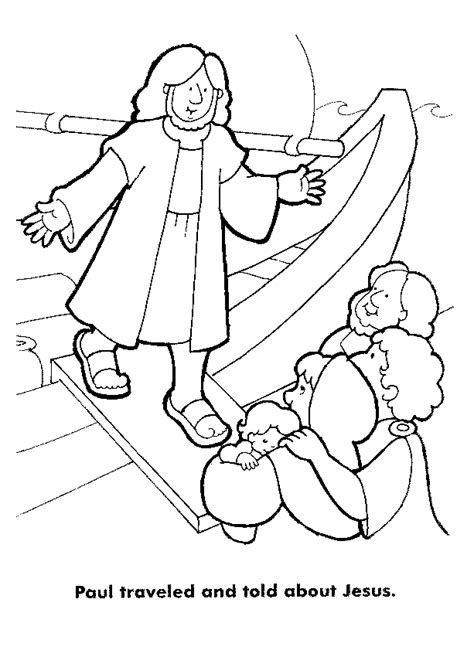 Kleurplaat Paulus Schipbreuk by Www Christiancomputergames Net Paulus Stapt Van Boot