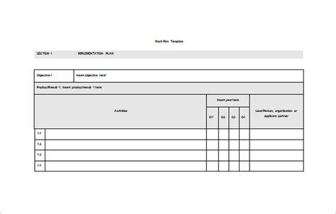 work plan template microsoft office printable schedule