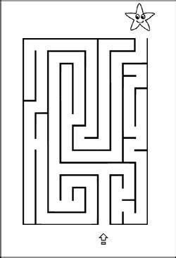Labyrinth - Bild - Vorlage - Stern | Rätsel für kinder