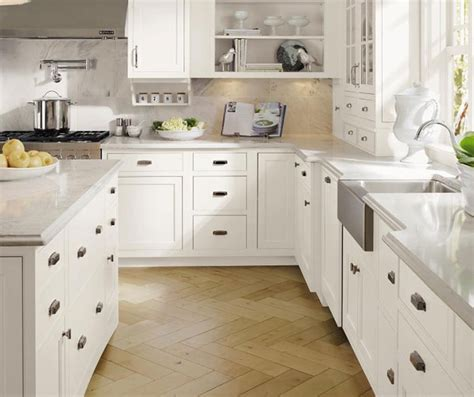 White Inset Cabinets by Stacked Crown Moulding Decora Cabinetry