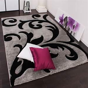festival grau schwarz design teppiche With balkon teppich mit tapete silber grau
