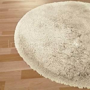 Tapis Rond Beige : tapis rond sur mesure beige longues m ches moelleux ~ Teatrodelosmanantiales.com Idées de Décoration