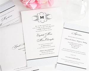 elegance monogram wedding invitations wedding With wedding invitation initials etiquette